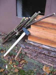 Solch nettes Material fällt nebenher bei der Gartenpflege an . . .