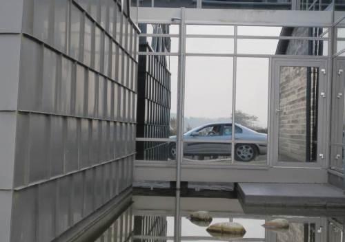 Spezialfoto mit Ecco-Centre - letzter Blick auf den silbergrauen, alten Koreaner.