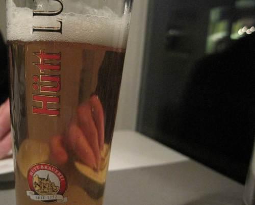 Das Bier dazu stimmt auch.