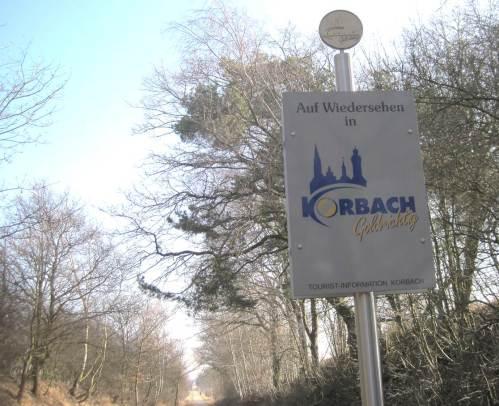 Hier, am Stadtteil Meineringhausen, verlasse ich die Gemarkung Korbach.