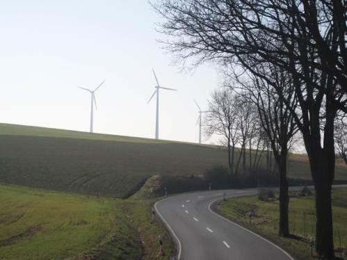 Die Windmühlen bestätigen meinen Verdacht: also doch - Gegenwind.