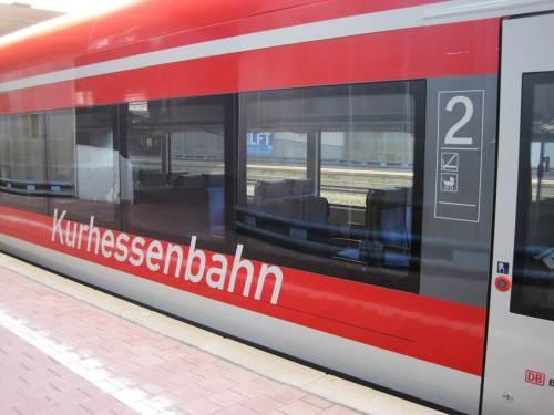 Entspannen! - Die Kurhessenbahn hat Kassel-Wilhelmshöhe rechtzeitig erreicht.