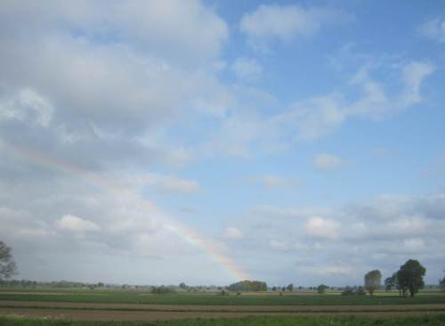 Zur Wetterseite hin - Ostende des Regenbogens.