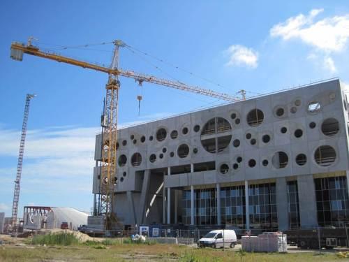 Viel Geld oder Mut zum Risiko? - In Aalborg wird gebaut und gebaut und gebaut ... - Dies wird die neue Musikhalle.