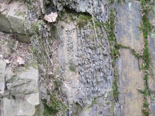Interessant kleinräumig wechselnde Steinstrukturen.