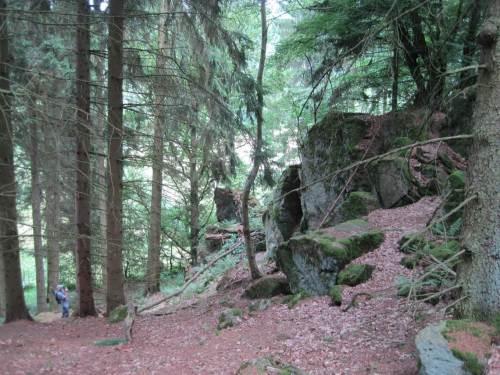 Das Foto nach Kraxelei zeigt den Höhenunterschied an den Wichtelsteinen.