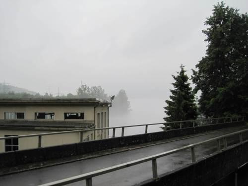 Realität am Fuß des Peterskopf - wir haben einen Regentag erwischt, nix zu sehen.