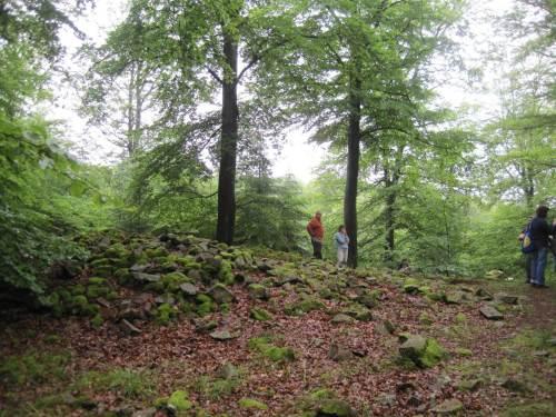 Wir rasten auf einer Steinschotteranhöhe - eine Grabstelle?