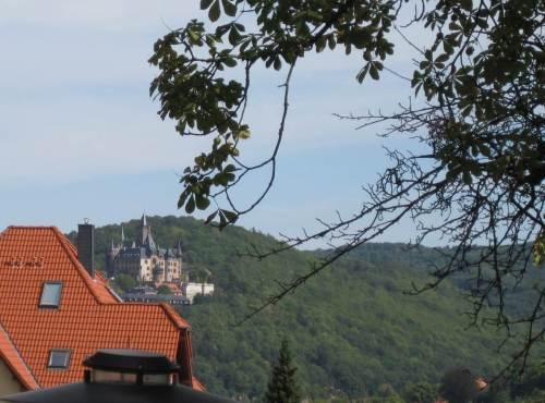 Schloss Wernigerode mit Rot-Grün.
