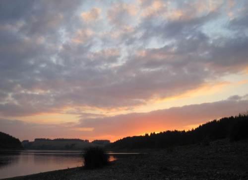 Sonnenuntergang Rappbodetalsperre