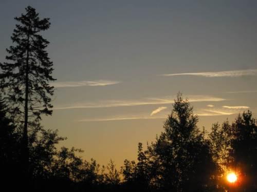 Geometrie-Übung bei Sonnenaufgang Töst