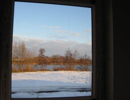 Blick aus dem Anglerhaus.