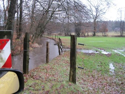 In Thelsdorf fliesst der Mühlenkanal Richtung Seeve über - wie an so vielen Stellen mit schlecht wirkenden Regenrückhaltebecken ins Kraut geschossener, oberhalb liegender Städte. Funktionsprüfung der RHBn dringend erforderlich.