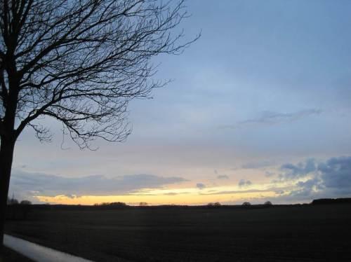 Und zum Schluss reitet der einsame (?) Cowboy mit seinen 90 Pferden gen offenen Abendhimmel. - Es soll wieder kälter werden.