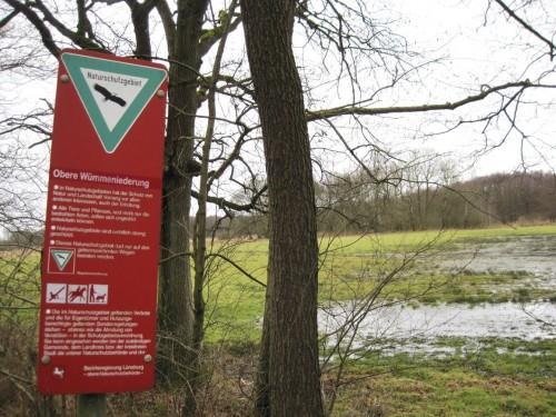 Naturschutzgebiet Obere Wümmeniederung - aha, hier scheinen Gewässer und Leben am Wasser eine besondere Bedeutung zu haben.