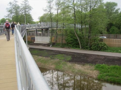 Beim Überqueren von Brücken bewegten wir uns im Baumkronenbereich, umschwirrt von - wem?