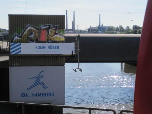 Erstmal orientieren - wohin soll ich rüberkommen? Zum Industriekonzentrat, das ganz Hamburg östlich jahrzehntelang mit Arsen würzte?