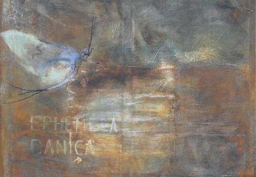 """""""Eintagsfliegen"""", Detail, bei Tageslicht im Freien."""