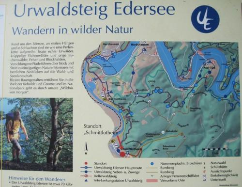 Südwestecke des Edersees - Nationalparkzentrum und Einstieg z.B. in den Urwaldsteig.