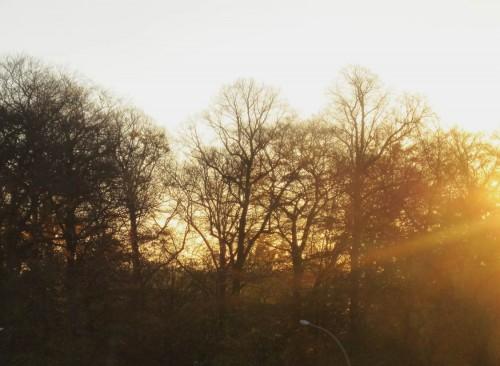 Wo ist nur das Jahr geblieben!? Der Sonnenaufgang findet schon weit im Südosten statt.