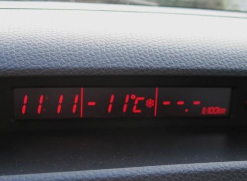 11 Grad minus - und es ist schon fast Mittag! So ganz oft haben wir das hier nicht.