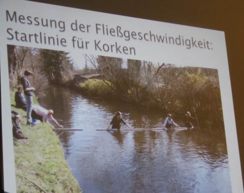 Schulen sind sehr aktiv mit Untersuchungen von Wasser und Lebewesen, Messungen diverser Art am Gewässer.