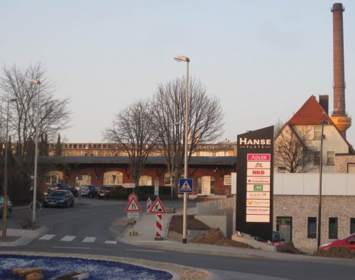 Ein neuer Platz - der Hanse-Platz, schliesst sich nach rechts an! Bringt er maritimes Flair nach Nordhessen?