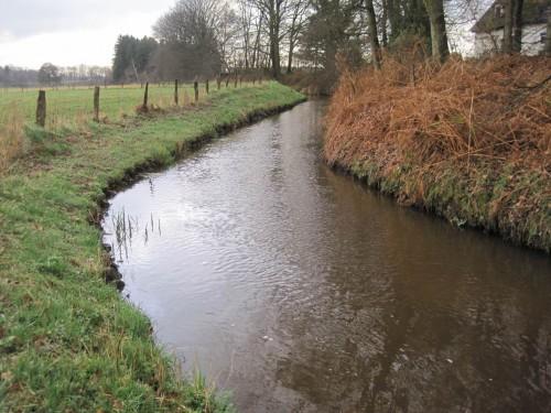 Der Gohbach, seit langem ausgebauter, kanalartiger Verlauf, ist durch gutes Gefälle charakterisiert.