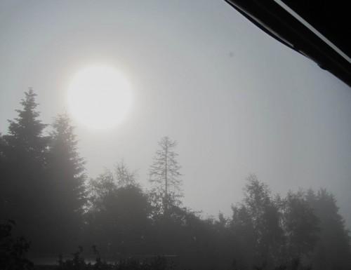 Am Morgen kämpfte die Sonne lange gegen Hochnebel.