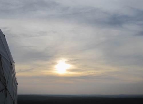 Langsam verabschiedet sich die Sonne.