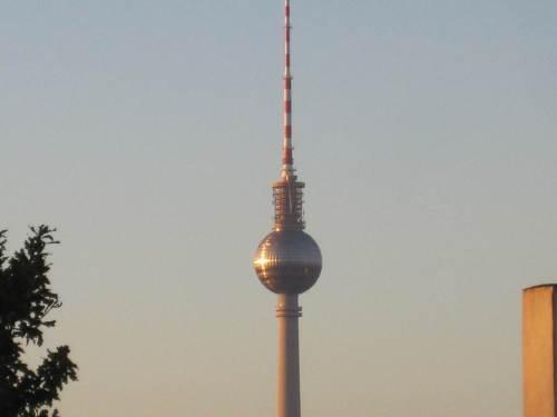Projektionsfläche Fernsehturm.
