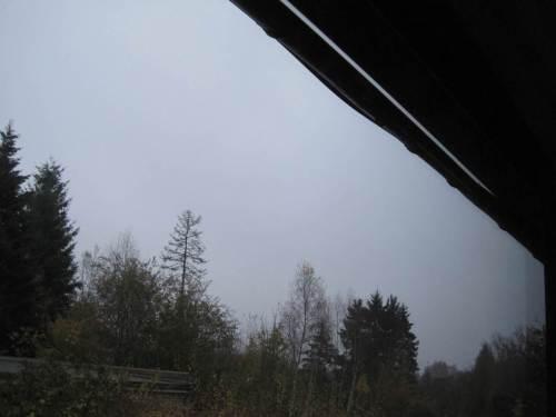 Kein Sonnenaufgang heute zu sehen - alles grau.