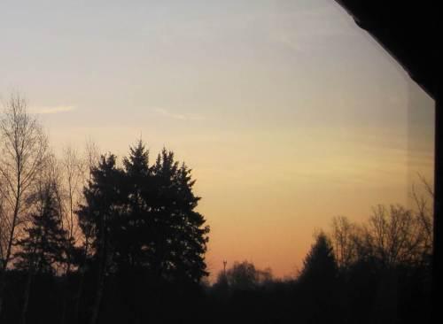 """Per Schein ist sie schon zu erahnen, zum hier sichtbar werden muss die Sonne noch ein Bisschen """"nach Norden wandern""""."""