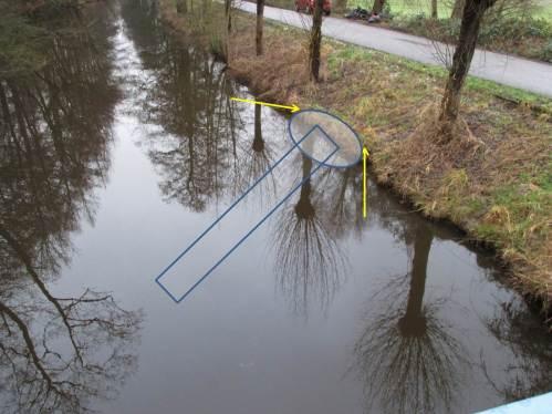 Uferschutz und ein unter Mittelwasser liegender Teil kennzeichnen das Konstruktionsprinzip der verabredeten Lenkbuhne.