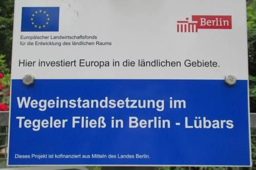 Gute Möglichkeit dazu bieten uns EU und Berlin - Investition in ländliche Räume.