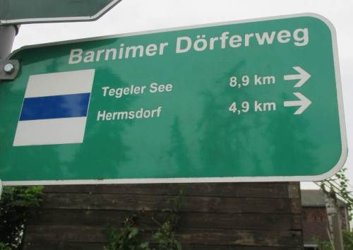 Wir starten am Barnimer Dörferweg.