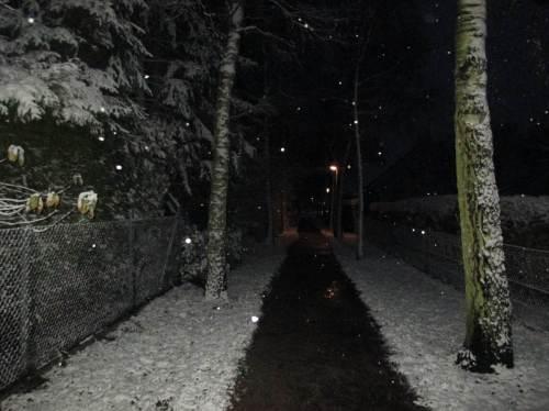Ja, ist denn schon Weihnachten?! Nach aus Nord hereinfegendem Schlubber blieb Schnee.
