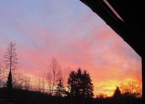 Zum Beispiel aus dem Sonnenaufgang, Blick aus dem Esszimmer.