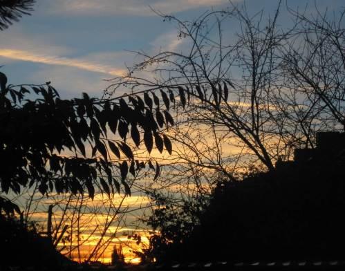 Wohnzimmerblick auf den Sonnenuntergang - künftig aus anderer Perspektive.