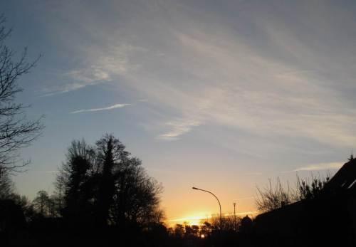 Sonnenaufgang, noch in Tostedt.