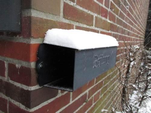 Der Briefträger wird es heute schwerer haben als sonst.