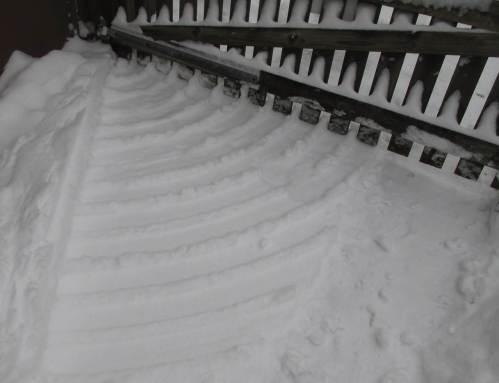 Holztor-Schnee-Geometrien, Detail.