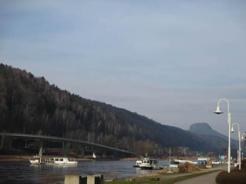 Morgendlicher Eindruck an der Elbe, Bad Schandau.