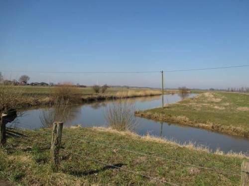 Fast voll, die Hetlinger Binnenelbe bei auflaufend Wasser in der letzten Flut-Phase.