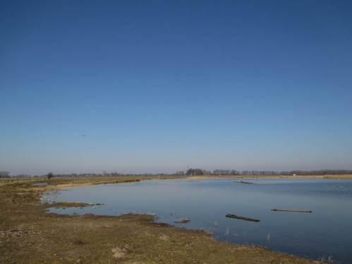 Große Flach- und Tiefwasserflächen sind bei der Kleientnahme für den Deichbau entstanden.