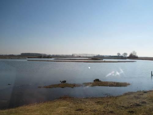Nach Osten befindet sich eine stärker gegliederte Wasserfläche.