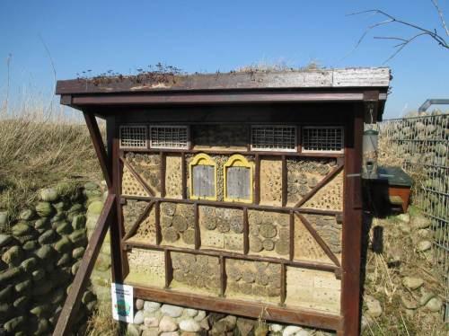Umweltbildung - nicht nur über die Vogelwelt, hier: ein Insektenhotel.