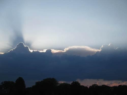 Der Blick zum Himmel sagt, es ist Zeit, umzukehren.