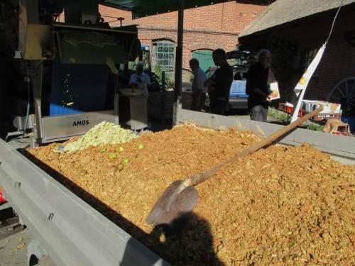 Pressreste - die Maschine hat am frühen Vormittag schon allerhand Äpfel verarbeitet.