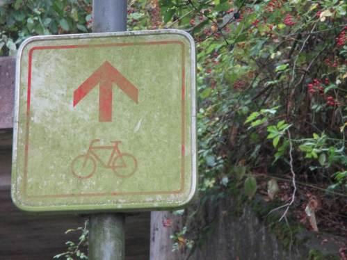 Insgesamt sind die Radstrecken gut ausgeschildert. Nur gelegentlich wurde mal ein Schild auf der Reinigungstour übersehen - macht nix.